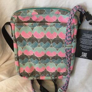 KAVU Zippit One Size Horizon Dots Crossbody bag